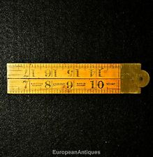 "Antique Boxwood Folding Ruler 2 feet 24"" No. 1167 Rabone & Sons Made In England"