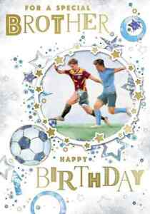 For A Special Brother Birthday Card. Size: 19.5cm x 13.5cm