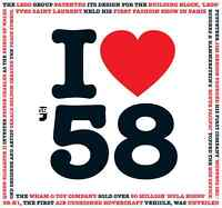 60th BIRTHDAY GIFT - I Love 1958 Compilation CD and Year Greeting Card