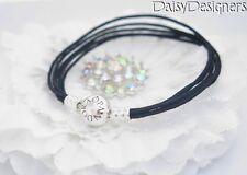 NEW Authentic PANDORA Silver BLACK MULTI STRAND CORD Bracelet 20 7.9 Large