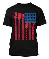 Guitar American Flag - Musician Instrument Men's T-shirt
