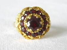 Rifinitura granat ring gold 585 Anello granata Anello da donna antico Exclusiv