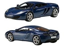 MCLAREN MP4-12C AZURE BLUE 1/43 DIECAST CAR MODEL BY AUTOART 56004