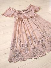 Twinkle glitter Floral embroider Dress axes femme Japan-M Himekaji Lolita Gothic