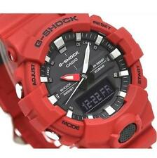 CASIO G-SHOCK, GA800-4A GA-800-4A, ANALOG DIGITAL, COMPACT CASE, RED x BLACK