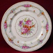 """FRANZISKA HIRSCH china DRESDEN handpainted DINNER PLATE 10-7/8"""""""