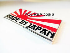 NEW Enamel Chrome Made In Japan Rising Sun Flag Car Badge Mazda
