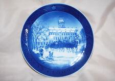 Royal Copenhagen Denmark Christmas Plate 1992 The Royal Coach Collectible Plates