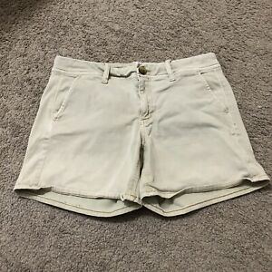 American Eagle Outfitters Super Stretch Women's Size 8 Cotton Blend Khaki Shorts