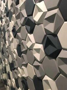 """3D Decorative wall molds Concrete ABS plastic Form Stone Art Decor """"Stone №1"""""""