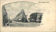 Newark NJ Springfield Ave & South Orange Ave c1900 Postcard