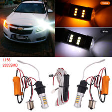2x 1156 2835SMD 42Led Car Dual Amber Switchback DRL Reverse Turn Signal Lights