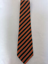 Giorgio Armani black/bronze 100% silk striped men's tie