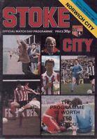 Stoke City v Norwich City Official Programme -  15th March 1980