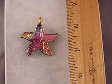 Star Fish Glass Pendant PS18 Pink Purple Starfish Nautical Spectacular