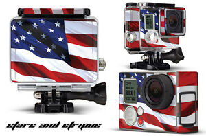 Skin Stickers for GoPro Hero 3+ Camera & Case Decal HERO3+ Go Pro USA FLAG