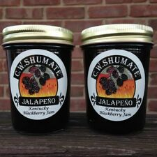Blackberry Jalapeño  Jam - 2 Jars of Gourmet CW SHUMATE Kentucky Fruit Preserves