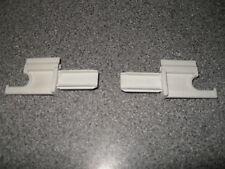Pair of caravan or motorhome grey plastic blind flyscreen rail end hooks BFH2