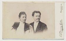 CDV Foto Mannheim - Portrait Paar in feiner Mode (N690)