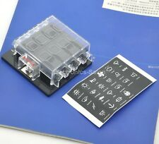 8 Position ATO/ATC Fuse Panel, W/Cover and Label, Fuse Block.