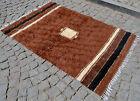 "Turkish Kilim Rug Hand Woven Anatolia Mohair Blanket NO DYES 46"" x 69"""