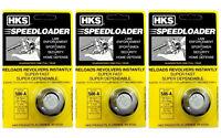 3 Pack HKS 586-A Speed Loader 357 mag S&W 586 Magnum PLUS 6 Shot NEW FREE SHIP