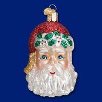 """Sinterklaas Head"" (40272)X Old World Christmas Glass Ornament"