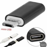 2X Adapter USB Typ-C Buchse auf Micro USB Stecker von USB 3.1 Typ C zu USB Typ B