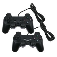 2x USB Wired PS4 Style Dual Shock Gamepad Controller Joypad Pad For PC Notebook