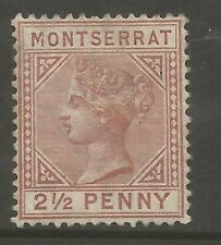 MONTSERRAT SG9 THE 1884-5 VICTORIAN 2.5d RED BROWN FINE MINT CAT £275