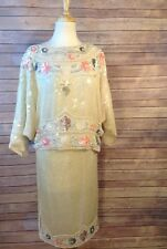 Pam Imports Large 100% Silk Beautiful sequin skirt and shirt set large