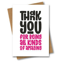 Best Friend Thank You Card - Thank You For Being All Kinds Of Amazing