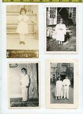 (15) Vintage photo lot / CHURCH KIDS - Communion Dresses - OLD SNAPSHOTS 1920-60