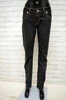 Pantalone LIU-JEANS Donna Taglia Size 31 Pants Woman Nero Slim Fit Gamba Dritta