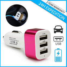 Best 3x Port Triple USB A+ Auto lader Car Charger Oplader Chargeur Voiture Pink