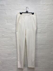 AC55 Coast Trousers Cream High Waist Marie Clare Ivory Size 8 BNWT