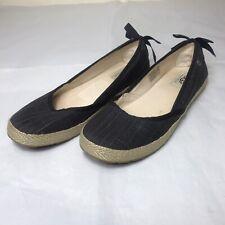 UGG AUSTRALIA Women's UK Size 6.5 S/N 1003493 INDAH Black Slip On Shoes