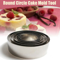 5Pc Stainless Steel Round Cookie Biscuit Cake Pastry Cutter Baking Mold Set Kit