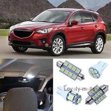 White Lights SMD Car Bulb Interior LED Package 11x Kit for Mazda CX-5 2013-2015
