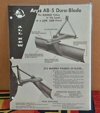 VTG 1960s Advertising Arps AB-5 Dura Blade Brochure N