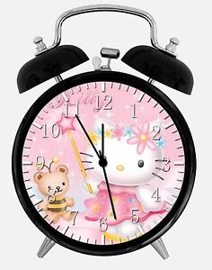"Pink Hello Kitty Alarm Desk Clock 3.75"" Home or Office Decor W266 Nice For Gift"