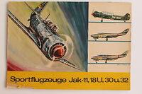 20868 Model Ausschneide Arch Aircraft Jak-11, 18U, 30 And 32 1969 Young World