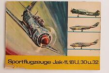 20868 Modell Ausschneide Bogen Flugzeuge Jak-11, 18U, 30 u. 32 1969 Junge Welt