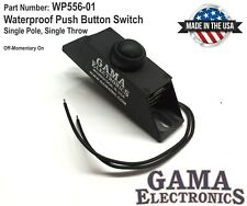 Waterproof Pushbutton Switch, SPST  Off-Momentary On with wire leads