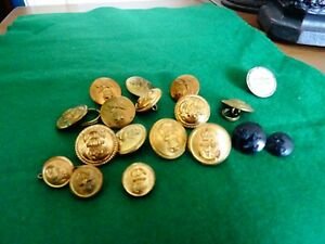 Selection of military buttons