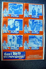 CAN I DO IT TIL I NEED GLASSES? Original 1970s Lobby Card Sheet Movie Poster
