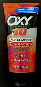 Oxy 10  Acne Cleanser Maximum Strength Oil Free 5 Ounces Exp. October 2022
