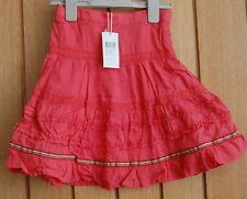 DUCKY BEAU  GIRLS SKIRT COLOUR CORAL AGE 6 BRAND NEW