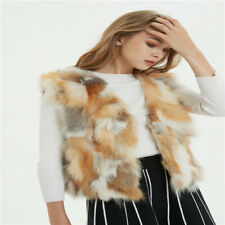 Fashion Fur Coats Genuine Fox fur vest short gilet waistcoat Clothing