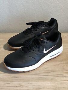 Nike Air Max 1 Golf Shoes Black Gum AQ0865-002 Womens Size 9.5 NEW